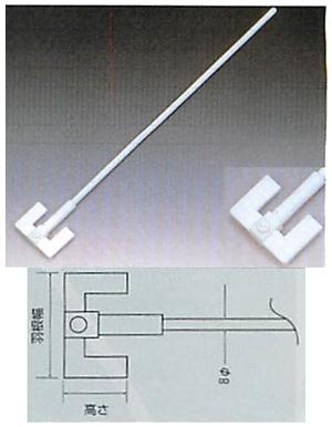 テフロンRW型撹拌棒(固定式羽根付)<PTFE製>