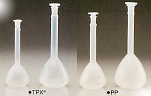 TPX®/PPメスフラスコ(ポリ栓付き)