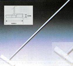 テフロンR被覆撹拌棒大型<PTFE製>