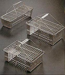 ステンレスフタ付洗浄カゴ(SUS304製)
