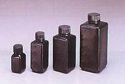 Jボトル黒色/角細口・広口瓶(遮光)