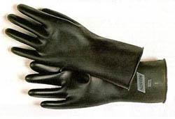 ブチル手袋。耐酸・滑り止め付販売