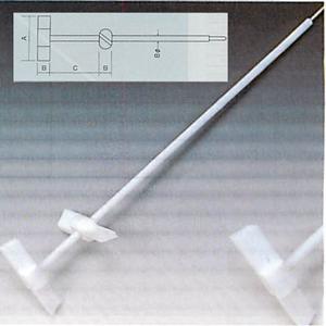 テフロンR撹拌棒B型2連式<PTFE製>