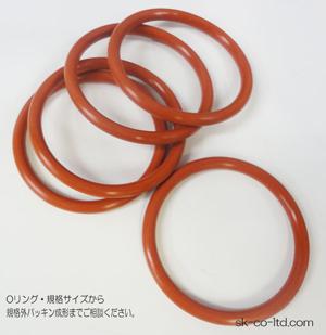 JIS規格<B2401>P番(Oリング・ゴムパッキン)赤シリコーン