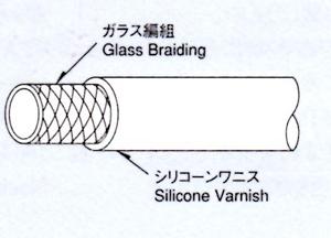 耐熱電圧用ガラス編組チューブ、柔軟性、高機能電圧チューブ