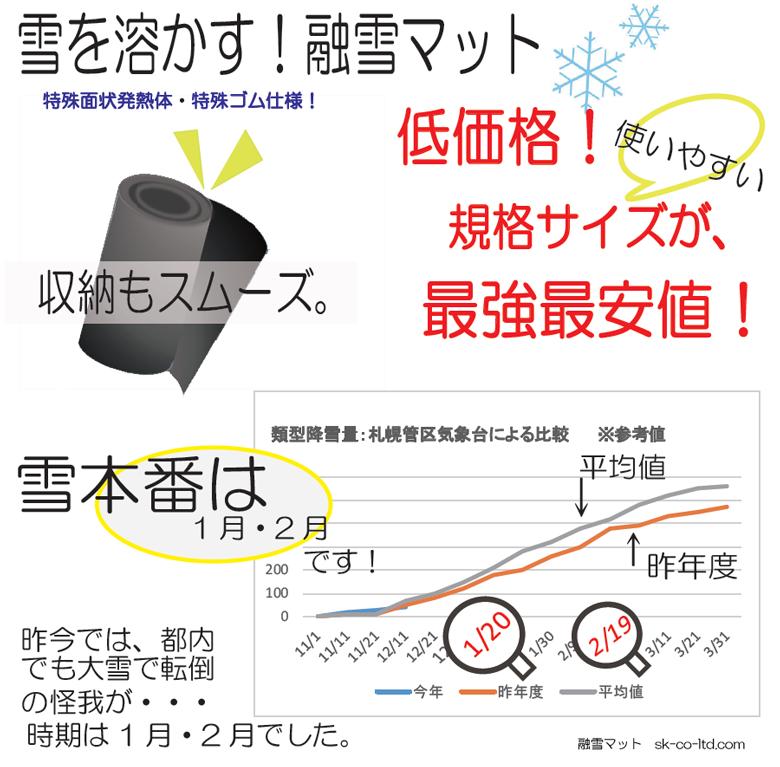 スノーメルト、融雪マット低価格保証