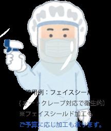 オートクレーブ滅菌処理ができるフェイスシールド加工